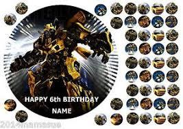 bumblebee transformer cake topper transformers toppers bumblebee transformers 11 edible cake topper cupcake