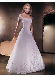 elegant satin wedding gown a line skirt in detachable removable