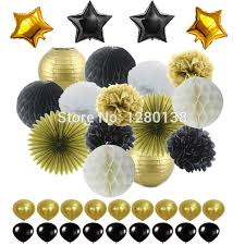 black and gold party decorations aliexpress buy black gold white party decorations tissue