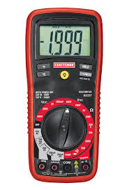 craftsman digital multimeter with manual ranging 8 function
