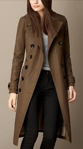 burberry fur detail military coat in natural lyst