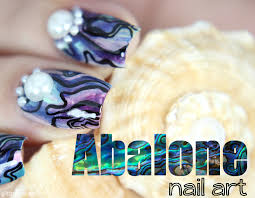 abalone shell nails glitterfingersss in english