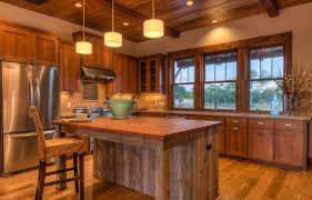 Wood Island Kitchen by Small Rustic Kitchen Designs White Painted Wooden Island Ceiling