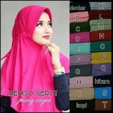 jilbab zoya bergo serut bahan jersey zoya grosir jilbab murah bandung