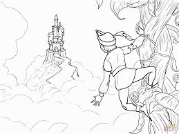 jack and the beanstalk coloring pages jack and the beanstalk