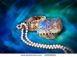 paua shell grey pearl ornaments on stock photo 361695977