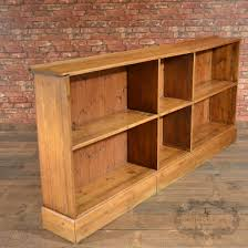 antique english pine bookcase victorian shelves large long low