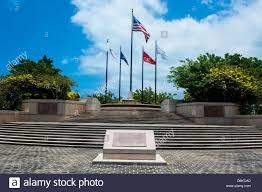 Cnmi Flag American Memorial Park Saipan Northern Marianas Central Pacific