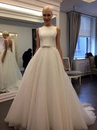hepburn style wedding dress backless sleeveless a line wedding dress a line