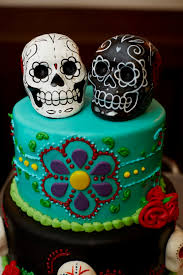sugar skull cake topper magnolia weddings day of the dead wedding