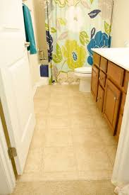 Vinyl Floor Basement Bathroom Transformation With Vinyl Tile The Home Depot