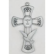 confirmation crosses pewter confirmation cross 6 inch the catholic company