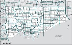 Map Of Toronto Final Report U2013 Ontario Redistribution Federal Electoral Districts