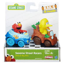 amazon com sesame street elmo and big bird playskool racers toys