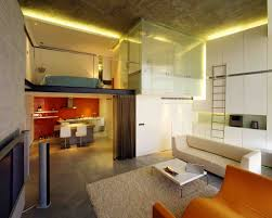 Bedroom Sofa Design Sophisticated Loft Bedroom Idea With Glass Enclosure And