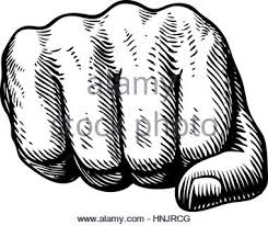fist on a white background sketch vector illustration stock