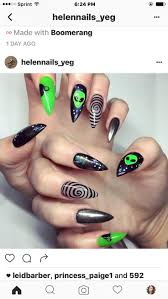 best 25 halloween acrylic nails ideas only on pinterest