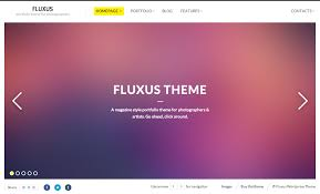 fluxus portfolio theme for photographers by intheme themeforest