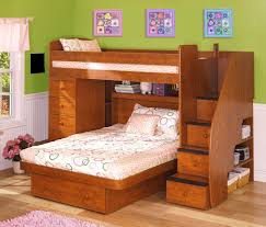 Twin Bedroom Set With Desk Awesome Wooden Twin Beds Design Ideas With Comely Wooden Staircase