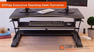 airrise executive standing desk converter stand up desk store