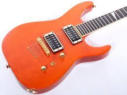 Sunset Orange by Jackson Usa Custom Shop Sl2ht Soloist Fmt Sunset Orange Electric