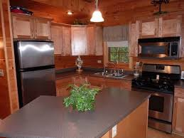 Single Wall Kitchen With Island Kitchen Rustic Kitchen Gray Box Ceiling One Wall Kitchen Island