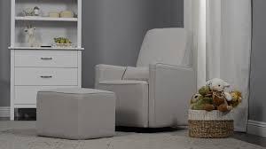 Gliders And Ottomans Davinci Olive Upholstered Swivel Glider And Ottoman In Grey With