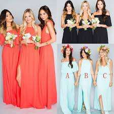 2017 bohemian bridesmaid dresses wedding guest wear mint green