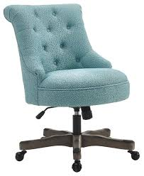 light blue desk chair sinclair office chair gray wash wood base transitional office