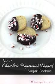 quick chocolate peppermint dipped sugar cookies the inspiration