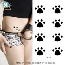 paw print sheets 2 sheets small fresh tattoo stickers models paw