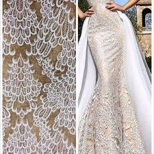 elegent wedding dress fabric embroidery lace fashion fabric