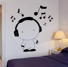 lovely house music wall art fotohouse net 2017 new house wall decal kids room boys headphones music art vinyl stickers art mural free