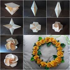 cara membuat origami bunga yang indah cara membuat origami bunga mawar untuk dekorasi pesta jangan lupa
