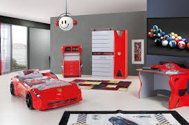 Car Room Decor Race Car Bed In Colors Also Boys Bedroom Decoration