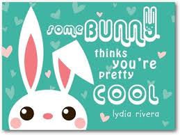 cool valentines cards cool bunny s day cards for kids mikan ink bay