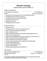 cashier resume sample no experience entry level resume templates