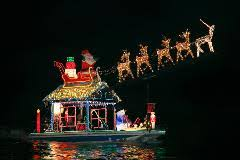 jones beach christmas light show newport beach boat parade