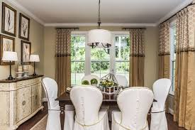 Curtain Crown Molding Curtain Rod Finials Dining Room Traditional With Baseboard
