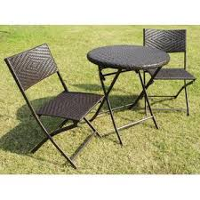 Folding Patio Bistro Set Bellini Home And Gardens Wildon 3 Pc Folding Patio Bistro Set