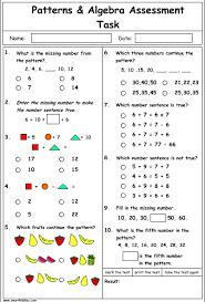 pattern and numbers patterns and algebra problem solving mathematics skills online