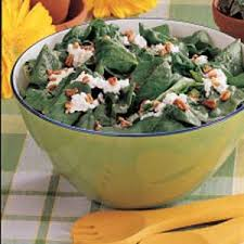 Cottage Cheese Recepies by Cottage Cheese Spinach Salad Recipe Taste Of Home