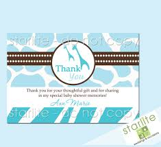 baby shower thank you card wording home design