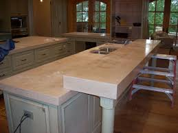 concrete countertops outdoor kitchen simple and durable concrete
