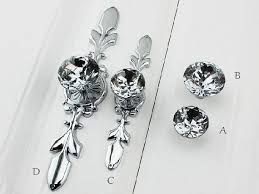 China Cabinet Hardware Pulls Glass Dresser Knob Pull Crystal Drawer Knobs Pulls Handle Silver