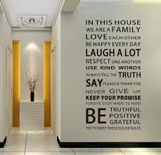 2017 family house rules quote wall stickers u2013 home decor craft