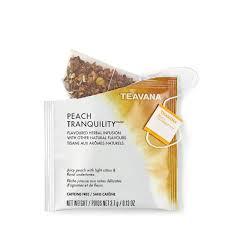 tranquility teavana peach tranquility full leaf tea sachets teavana
