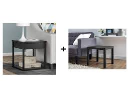 Parsons Nightstand Mainstays Parsons End Table With Drawer Best Home Furniture
