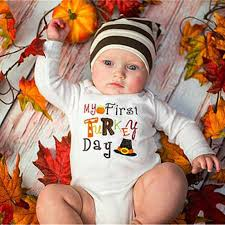 newborn baby boy thanksgiving clothes new jumpsuit