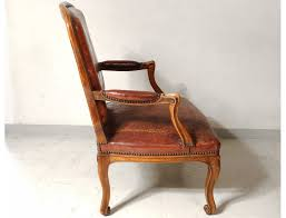 Queen Armchair Louis Xv Armchair To The Queen Carved Gilt Leather Armchair Beech